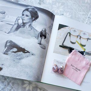 Kate Spade adore-ables amethyst pavé earrings